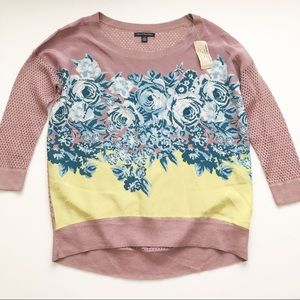 NWT American Eagle floral front sweater